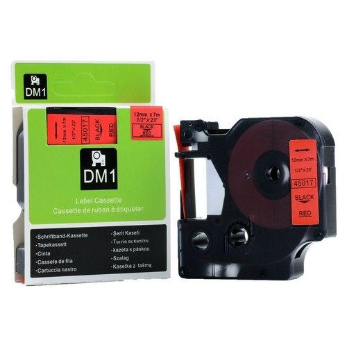 DM-45017 BLACK ON RED 12MM X 7MET