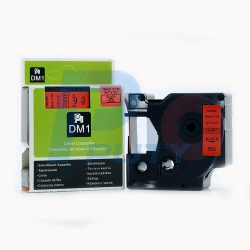 DM-45807 BLACK ON RED 19MM X 7MET