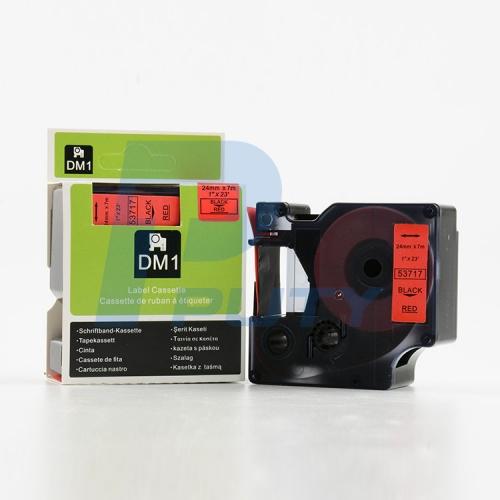 DM-53717 BLACK ON RED 24MM X 7MET
