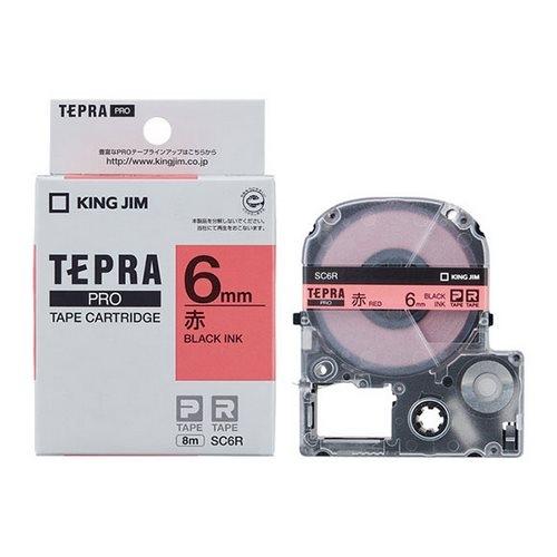 TEPRA SC6R- CHỮ ĐEN NỀN ĐỎ 6MM