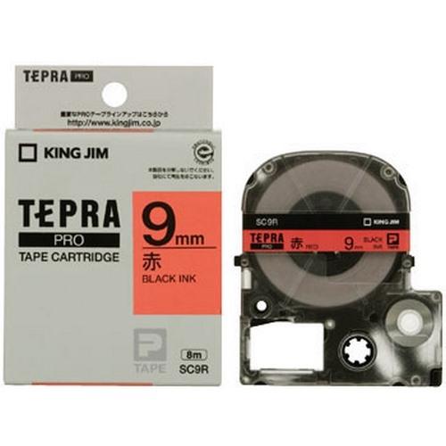 TEPRA SC9R- CHỮ ĐEN NỀN ĐỎ 9MM